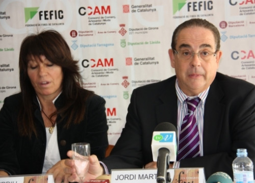 The press conference presenting the 17th Fair Conference (by M. Cervelló)