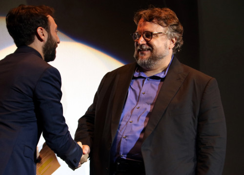 Filmmaker Guillermo Del Toro at the inaugural ceremony of the Sitges Film Festival on October 5 (by ACN)