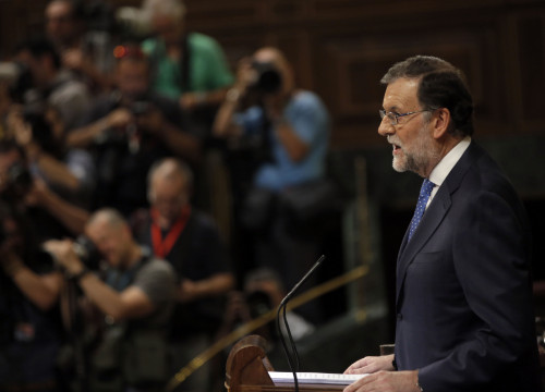 The leader of the PP, Mariano Rajoy, in the Spanish Parliament (by ACN)