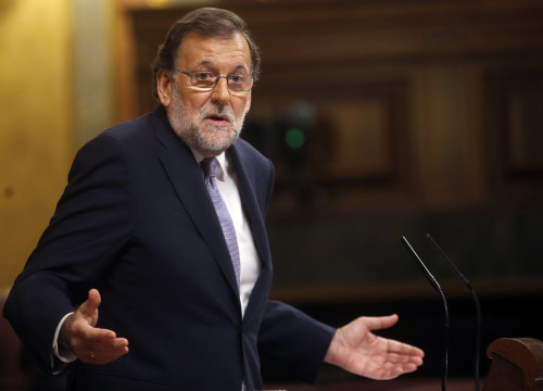 The leader of the PP, Mariano Rajoy, during his confidence vote in the Spanish Parliament (by ACN)