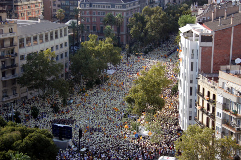 Image of the mobilisation for self-determination in Barcelona in 2016 (by ACN)