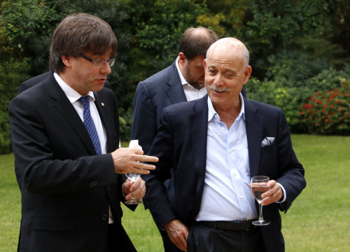 The sociologist, economist and political advisor Jeremy Rifkin with Catalan President Carles Puigdemont (by ACN)