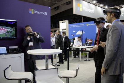 Microsoft stand at the Smart City Expo World Congress in November 2016 (by Àlex Recolons)