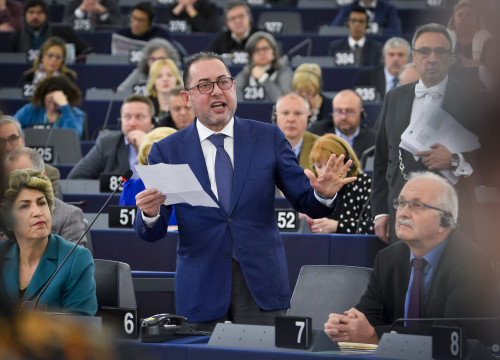 Italian MEP Gianni Pittella speaking in Strasbourg in January (by the European Parliament)