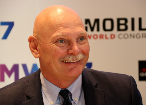 John Hoffman, CEO of event organizer GSMA, in February (by ACN)