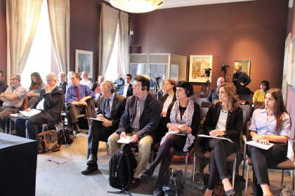 Public attending Diplocat's conference 'The Bombings of Barcelona and London' in London (by ACN)