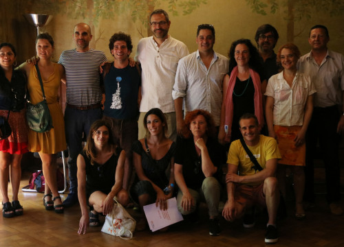 Group picture of representatives of the Ramon Llull Institute and Catalan artists