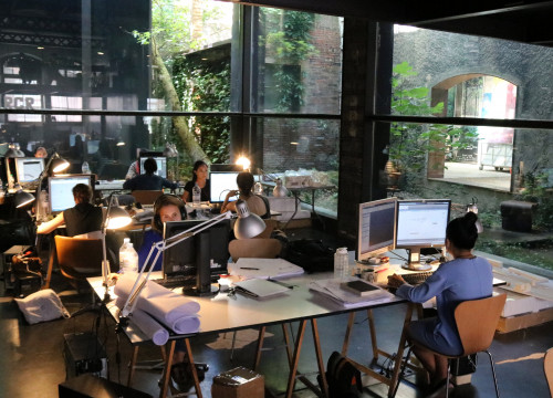At RCR Architects' studio in the Catalan city Olot (by ACN)