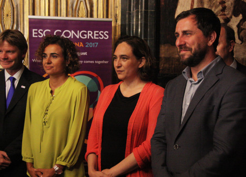 Catalan and Spanish authorities at the presentation of the congress on Thursday (by ACN)