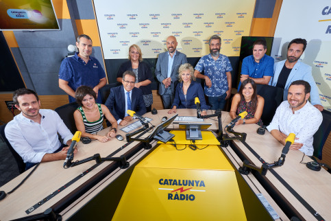 Members of the Catalunya Radio team earlier this year (by ACN)