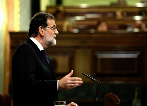 Spanish president Mariano Rajoy speaking in front of Parliament on Wednesday (by ACN)