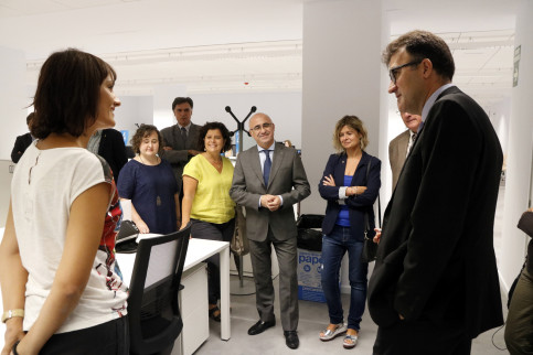 Catalan tax secretary, Lluís Salvadó, at the inauguration of ATC new offices in Reus (by ACN)