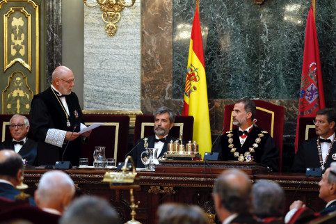 Spain's attorney general vowing to the King of Spain to take any action necessary to stop the referendum