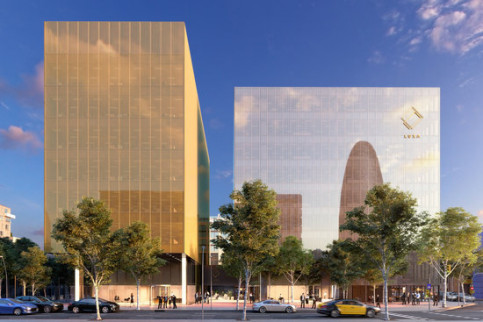 Computer image of future Amazon offices in Barcelona (by Amazon)