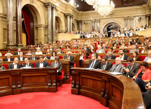 The plenary chamber in Catalonia on Wednesday (by ACN)