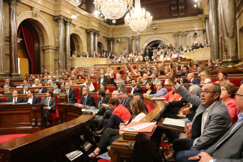 Debate in the Catalan Parliament on Wednesday (by ACN)