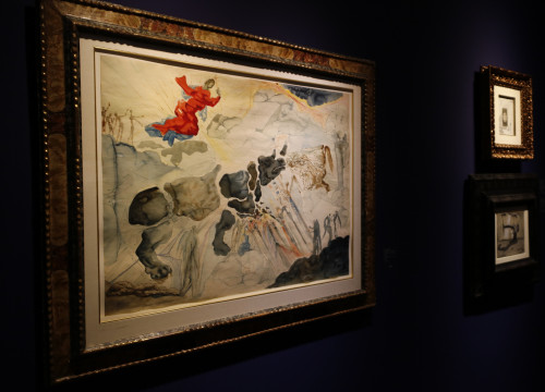 A painting by Salvador Dalí at the Mayoral art gallery (by ACN)