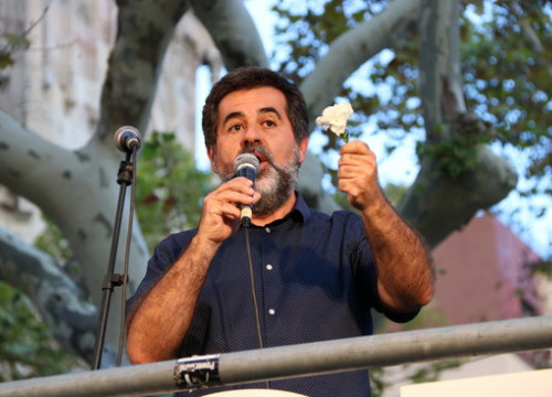 The pro-independence leader Jordi Sànchez on September 22, 2017 (by Andrea Zamorano)