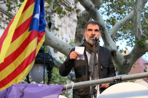 Jordi Cuixart on September 22, 2017, before his imprisonment (Andrea Zamorano)