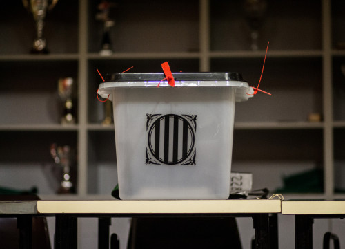The ballot box of the Catalan independence referendum in a polling station on Oct 1 (by ACN)