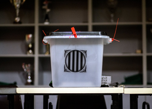 A ballot box on October 1 2017 (by Carles Palacio / ACN)