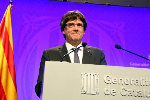 Catalan president Carles Puigdemont (by Pere Francesch)