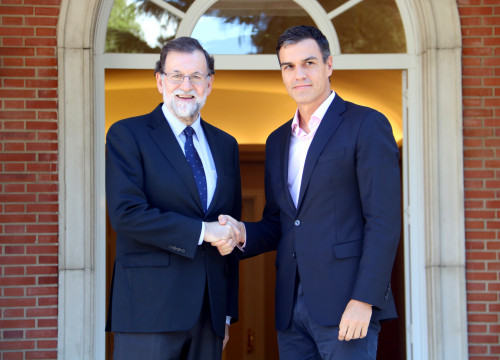 Spanish president Mariano Rajoy with leader of the opposition Pedro Sánchez earlier this month (by ACN)