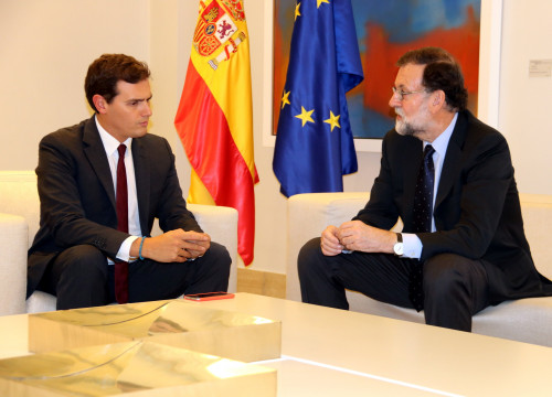 Spanish president  meeting with Ciutadans leader Albert Rivera (by  ACN)