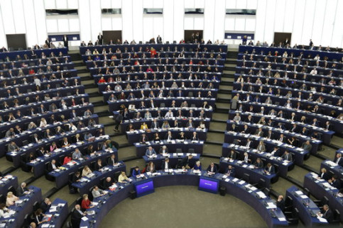 A plenary at the European Parliament on October 4 2017 (by Blanca Blay)