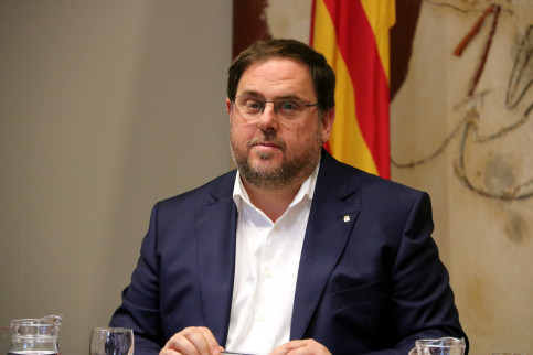 The Catalan vice president, Oriol Junqueras