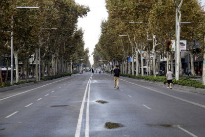 Avinguda Diagonal cut off in October last year after pro-independence protest (ACN)