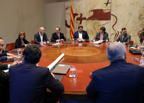 The executive council of the Catalan government prior to dismissal on October 24 (by ACN)