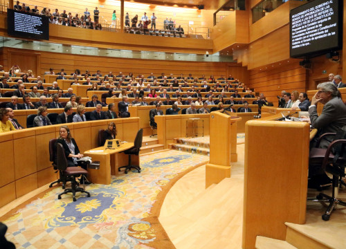 The plenary session of the Spanish Senate on Friday October 27, 2017 (by Tània Tàpia)