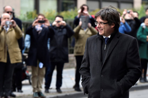 Carles Puigdemont in Belgium on October 31