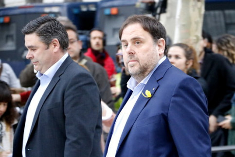 Deposed and incarcerated vice president Oriol Junqueras at the National Court on Novemner 2 2017 (by Rafa Garrido)