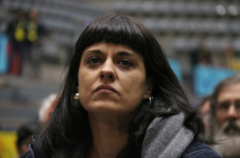 Anna Gabriel, a Catalan pro-independence leader and former MP of far-left CUP (by Maria Bélmez)