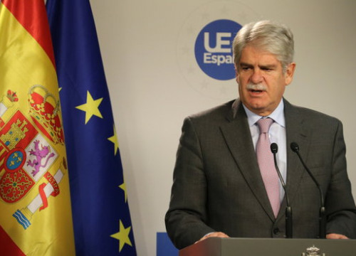 The Spanish foreign minister, Alfonso Dastis