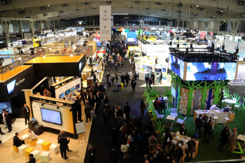 The main exhibition hall at the Smart City World Congress (by ACN)