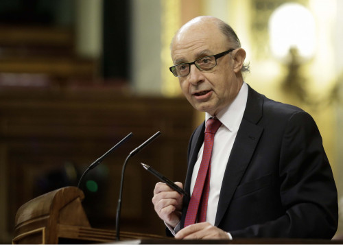 The Spanish minister of the treasury Cristóbal Montoro (by ACN)