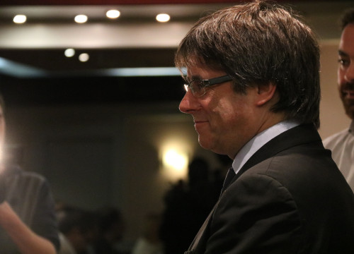 Carles Puigdemont in Brussels on November 29 2017 (by Blanca Blay)