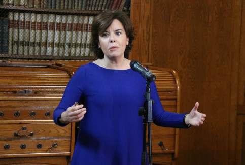 Spanish vice president Soraya Sáenz de Santamaría on December 12 2017 (by Àlex Recolons)