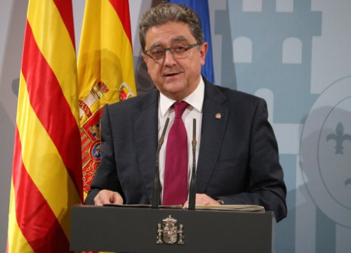 The Spanish government delegate in Catalonia, Enric Millo