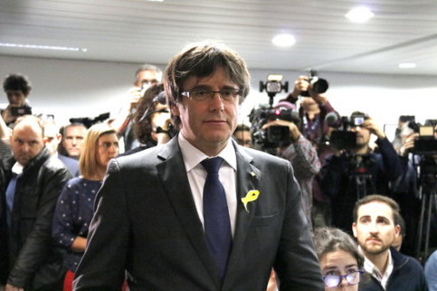 Carles Puigdemont on December 22, 2017 (by Laura Pous)