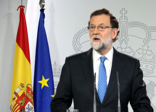 Mariano Rajoy on December 22 2017 (by Tania Tapia)
