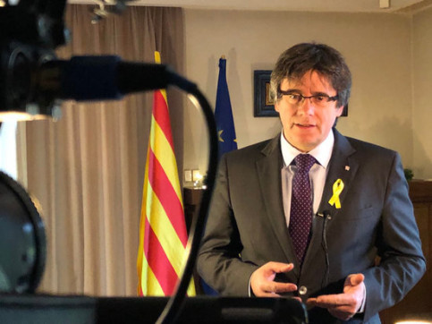 Carles Puigdemont, during his New Year speech