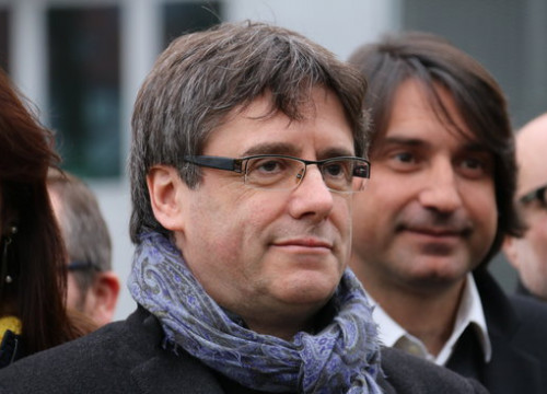 Carles Puigdemont in Brussels on January 12 (by ACN)