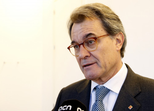 Former Convergència leader Artur Mas reacts to the 'Palau' Case sentencing in statements to the Catalan News Agency (ACN) on January 15 2018 (by Josep Ramon Torné)