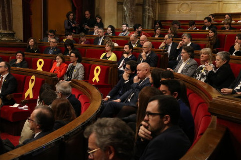 MPs during the opening session of the Catalan Parliament (by Elisenda Rosanas)