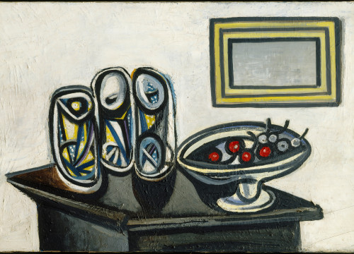A photo of Picasso's painting 'Still life with Cherries' (courtesy of the Picasso Museum)