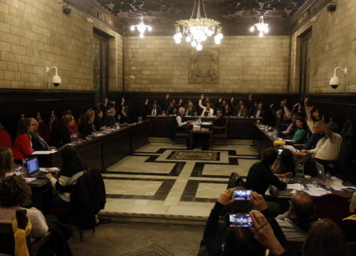 Girona's council during its meeting on February 12, 2018 (by Xavier Pi)
